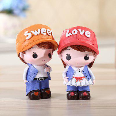 Accoppiamenti di Coppie Belle Figurine Resina Sweet Lovers Crafts
