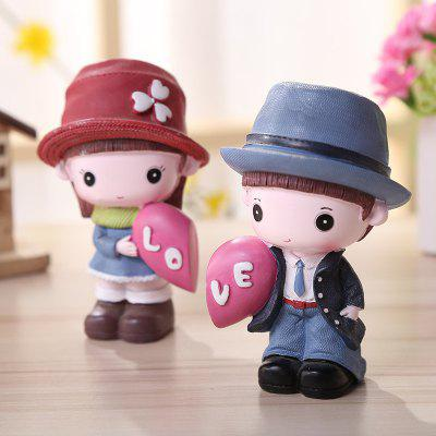 Cute Cartoon Couple  Desktop Decorations 2PCSCrafts<br>Cute Cartoon Couple  Desktop Decorations 2PCS<br><br>Material: Resin<br>Package Contents: 1 x Pair of Resin Decoration<br>Package size (L x W x H): 10.00 x 12.00 x 12.00 cm / 3.94 x 4.72 x 4.72 inches<br>Package weight: 0.2600 kg<br>Product weight: 0.2400 kg<br>Subjects: Cartoon