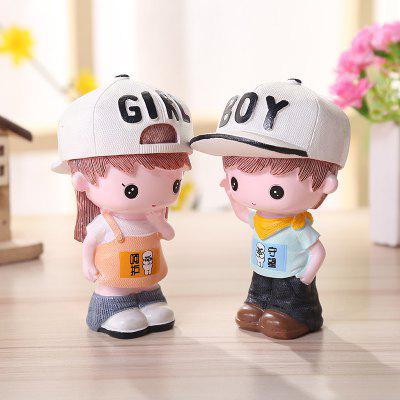 Cute Cartoon Lovers Desktop Decorations Couple Gift 2PCSCrafts<br>Cute Cartoon Lovers Desktop Decorations Couple Gift 2PCS<br><br>For: Lovers<br>Material: Resin<br>Package Contents: 1 x Pair of Resin Decoration<br>Package size (L x W x H): 10.00 x 12.00 x 12.00 cm / 3.94 x 4.72 x 4.72 inches<br>Package weight: 0.2600 kg<br>Product weight: 0.2400 kg