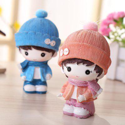 Cute Cartoon Kids Desktop Decorations 2PCSCrafts<br>Cute Cartoon Kids Desktop Decorations 2PCS<br><br>Material: Resin<br>Package Contents: 1 x Pair of Resin Decoration<br>Package size (L x W x H): 10.00 x 12.00 x 12.00 cm / 3.94 x 4.72 x 4.72 inches<br>Package weight: 0.2600 kg<br>Product weight: 0.2400 kg<br>Subjects: Cartoon