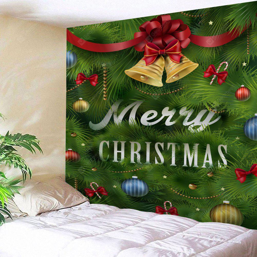 Christmas Bell Leaf Print Wall Tapestry