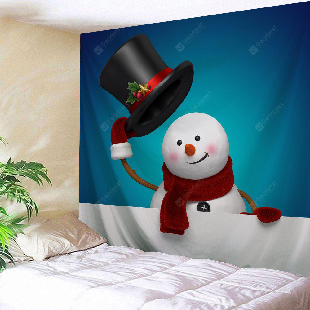 Christmas Snowman Wall Decor Tapestry