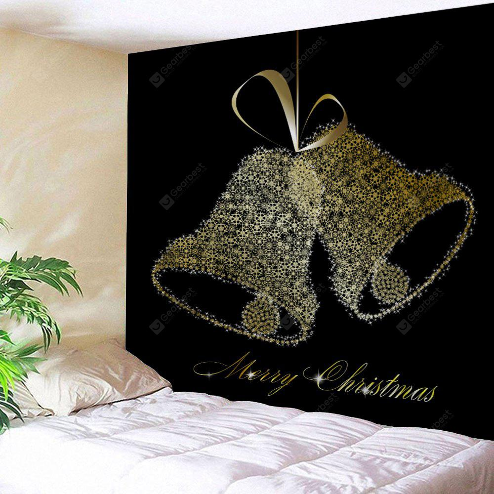 Christmas Bell Print Wall Tapestry