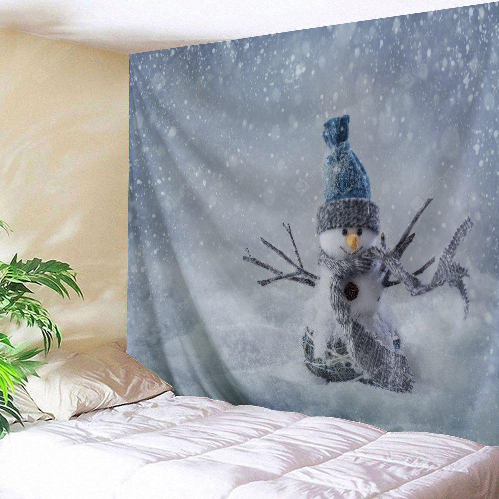 Christmas Snowman Printed Bedroom Tapestry