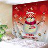 Wall Hanging Christmas Snowman Tapestry - RED AND WHITE
