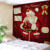 Santa Claus Wall Decor Christmas Bell Tapestry - RED