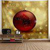 Christmas Ball Print Wall Tapestry - YELLOW