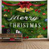 Christmas Bell Leaf Print Wall Tapestry - GREEN
