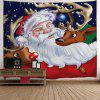 Santa Claus Reindeer Print Christmas Tapestry - COLORMIX