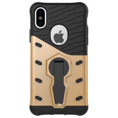 Buy GOLDEN Luanke Drop-proof Phone Stand Back Case for iPhone 8 for $3.60 in GearBest store