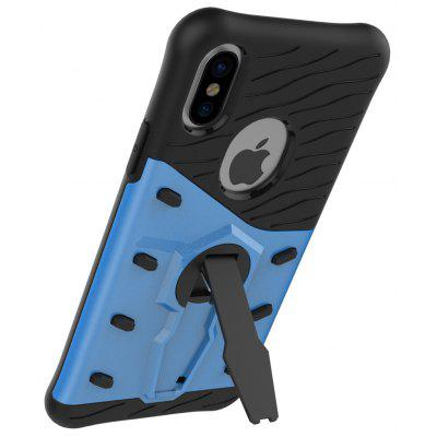 Buy BLUE Luanke Drop-proof Phone Stand Back Case for iPhone 8 for $3.60 in GearBest store