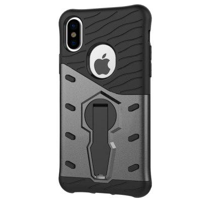 Luanke Drop-proof Phone Stand Back Case for iPhone XiPhone Cases/Covers<br>Luanke Drop-proof Phone Stand Back Case for iPhone X<br><br>Brand: Luanke<br>Compatible for Apple: iPhone X<br>Features: Anti-knock, Back Cover, Cases with Stand, Dirt-resistant<br>Material: TPU, PC<br>Package Contents: 1 x Case<br>Package size (L x W x H): 21.00 x 13.00 x 1.90 cm / 8.27 x 5.12 x 0.75 inches<br>Package weight: 0.0410 kg<br>Product size (L x W x H): 15.50 x 8.10 x 1.20 cm / 6.1 x 3.19 x 0.47 inches<br>Product weight: 0.0375 kg<br>Style: Modern