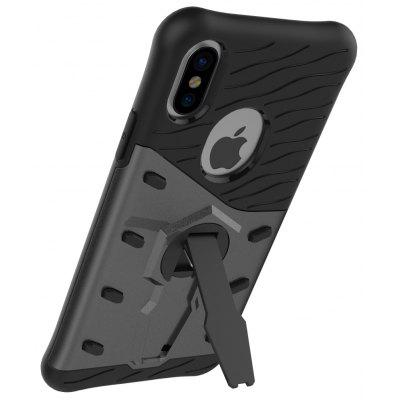 Buy BLACK Luanke Drop-proof Phone Stand Back Case for iPhone 8 for $3.60 in GearBest store