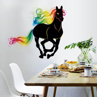 LAIMA Colorful Horse Pattern Wall Sticker