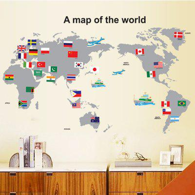 Buy COLORMIX LAIMA Creative World Map Design Wall Sticker for $7.08 in GearBest store