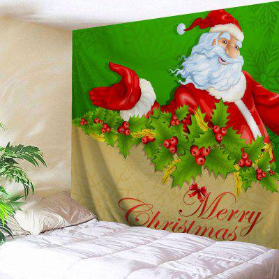Santa Claus Wall Art Merry Christmas Tapestry