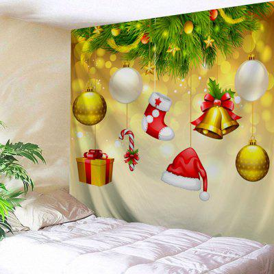 Wall Hanging Art Christmas Baubles Bell Print Tapestry