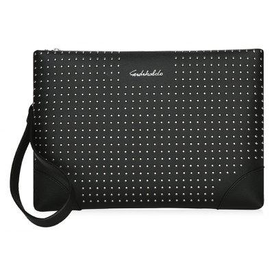 Bead-embellished PU Men Clutch Bag Wallet