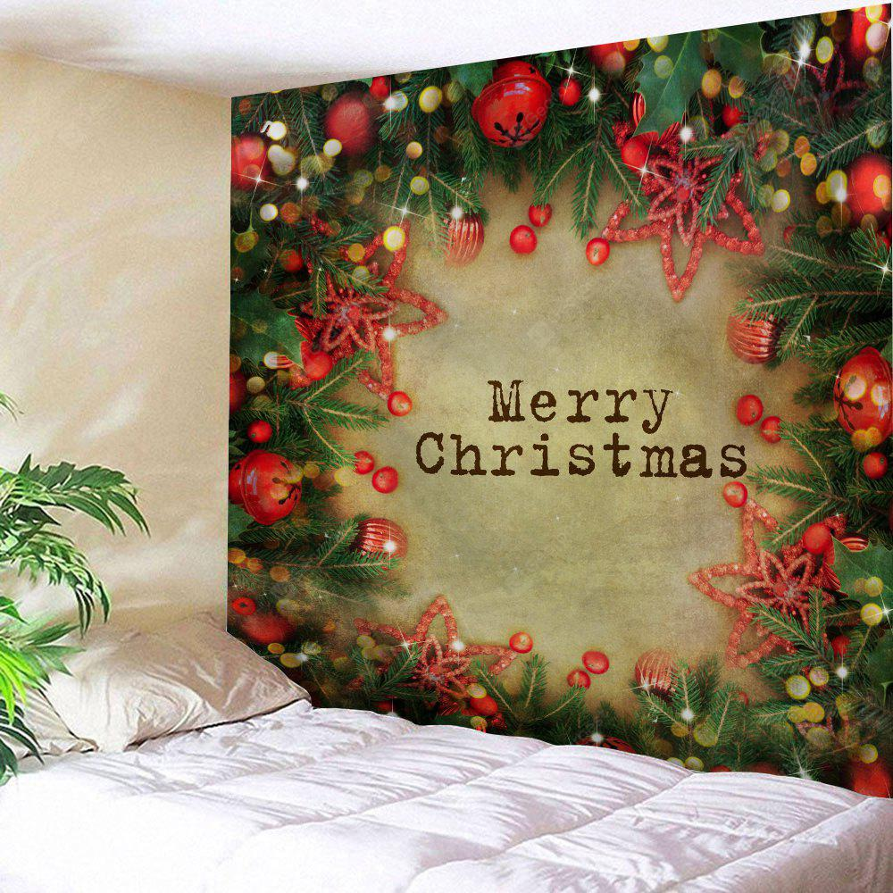 Wall Hanging Art Merry Christmas Bell Print Tapestry