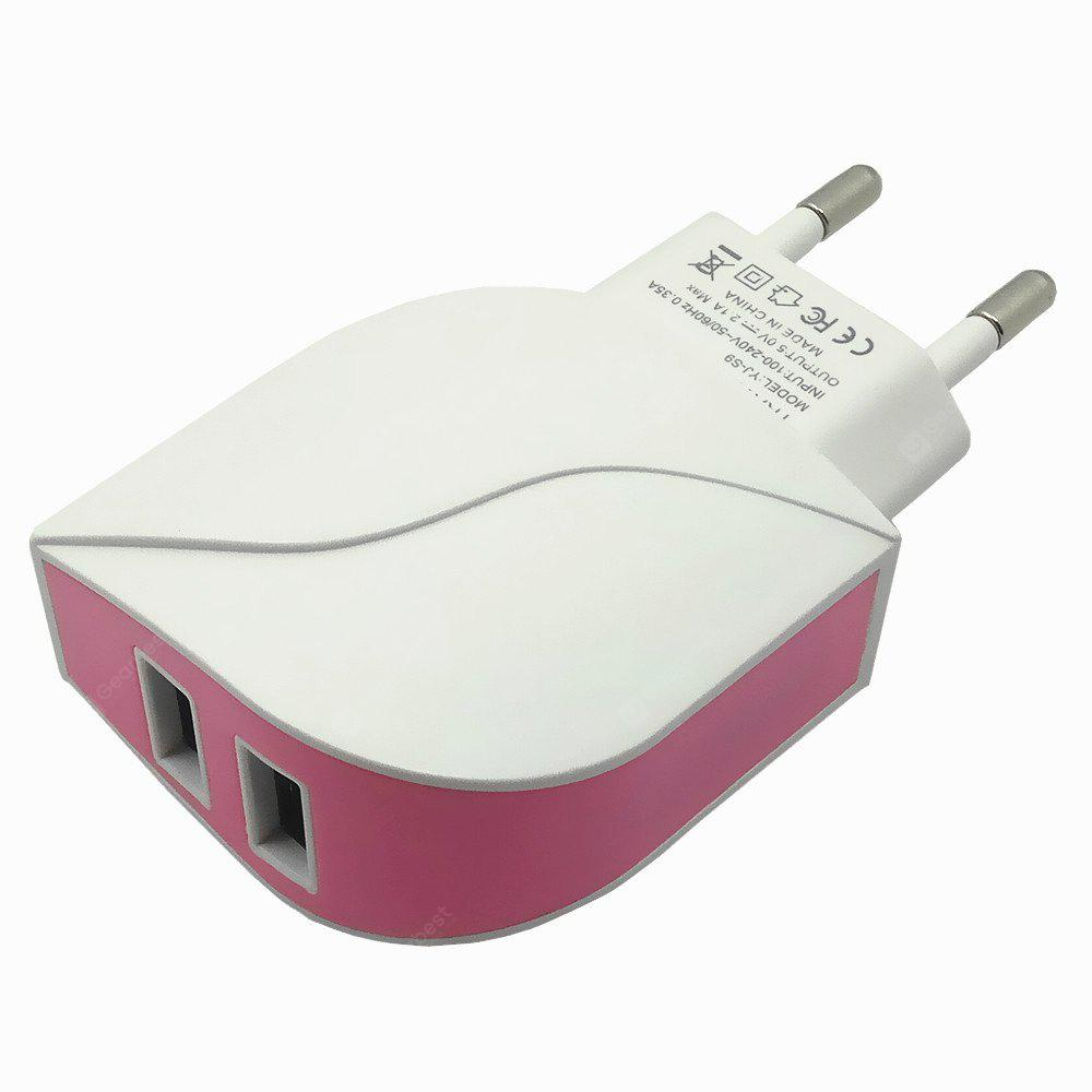 Double USB 2.1A Output Travel Charger Power Adapter
