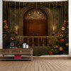 Christmas Tree Decorative Door Wall Tapestry - BROWN