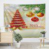 Christmas Tree Ball Print Wall Tapestry - COLORMIX
