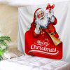 Christmas Gift Tapestry Santa Claus Wall Hanging - RED AND WHITE