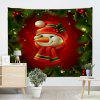 Wall Hanging Art Christmas Tree Snowman Print Tapestry - COLORMIX