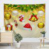 Wall Hanging Art Christmas Baubles Bell Print Tapestry - COLORMIX