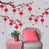 205 Small Lantern Pattern Chinese Spring Festival Wall Sticker - RED