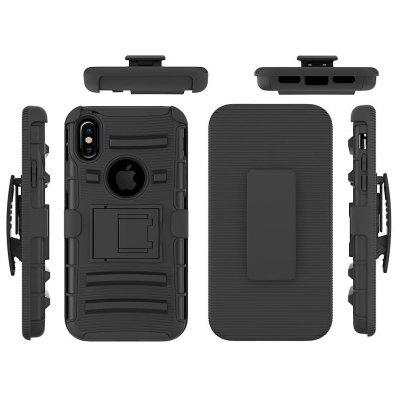 Buy BLACK Multifunction Holder Protective Cover Set for iPhone X for $4.78 in GearBest store