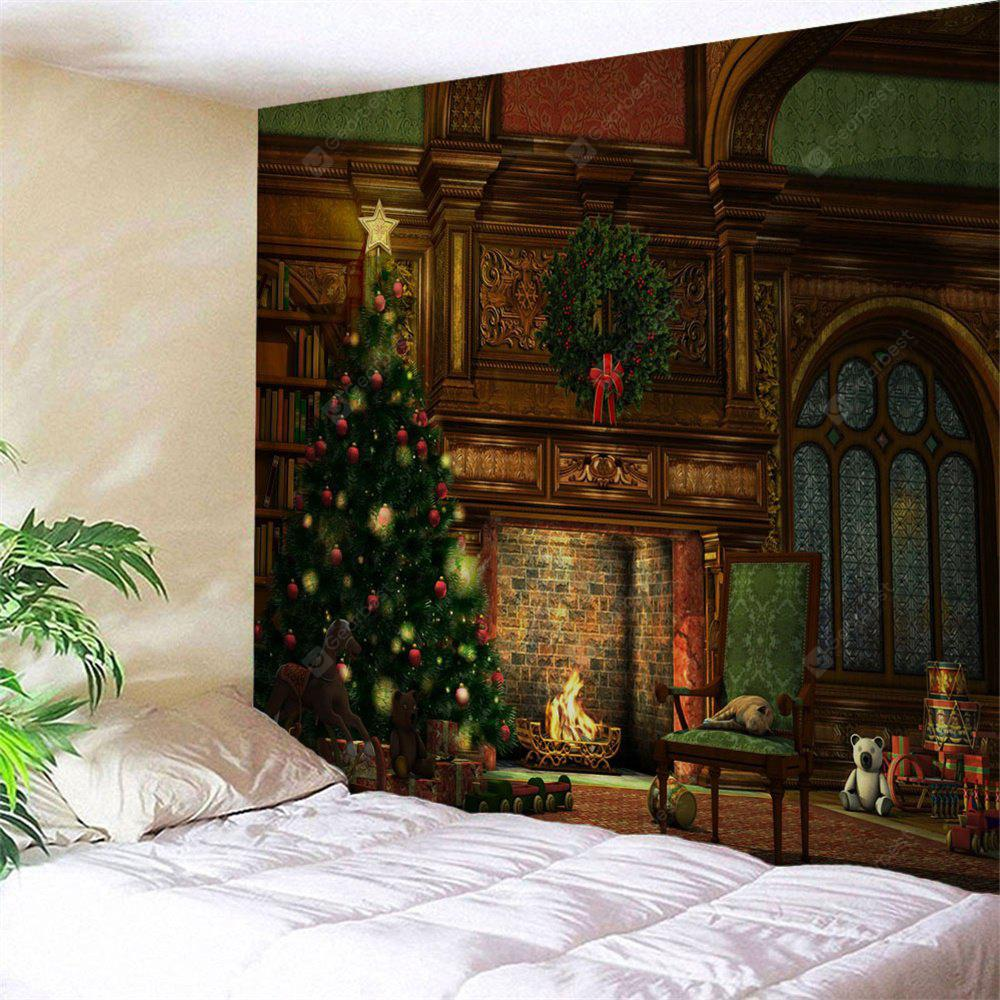 COLORMIX Wall Hanging Art Christmas Tree Fireplace Print Tapestry