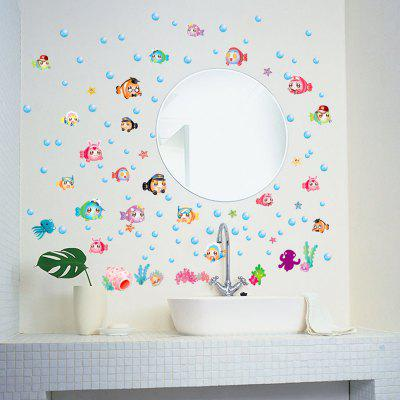 LAIMA QT0542 Cartoon Bubble Fish Pattern Wall StickerWall Stickers<br>LAIMA QT0542 Cartoon Bubble Fish Pattern Wall Sticker<br><br>Art Style: Plane Wall Stickers<br>Brand: LAIMA<br>Function: Decorative Wall Sticker<br>Material: Vinyl(PVC), Self-adhesive Plastic<br>Package Contents: 1 x Wall Sticker<br>Package size (L x W x H): 45.00 x 4.00 x 4.00 cm / 17.72 x 1.57 x 1.57 inches<br>Package weight: 0.0800 kg<br>Product Type: Others<br>Product weight: 0.0700 kg<br>Quantity: 1<br>Subjects: Animal,Cartoon<br>Suitable Space: Bedroom,Kids Room,Living Room<br>Type: Plane Wall Sticker
