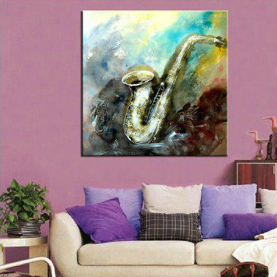 Mintura Abstract Musical Instruments Hand Painted Canvas Oil Painting