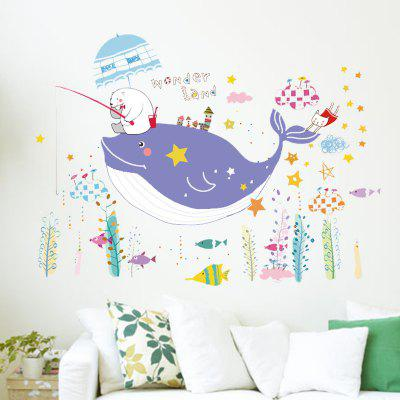 LAIMA Cartoon Whare Pattern Home Decor Sticker