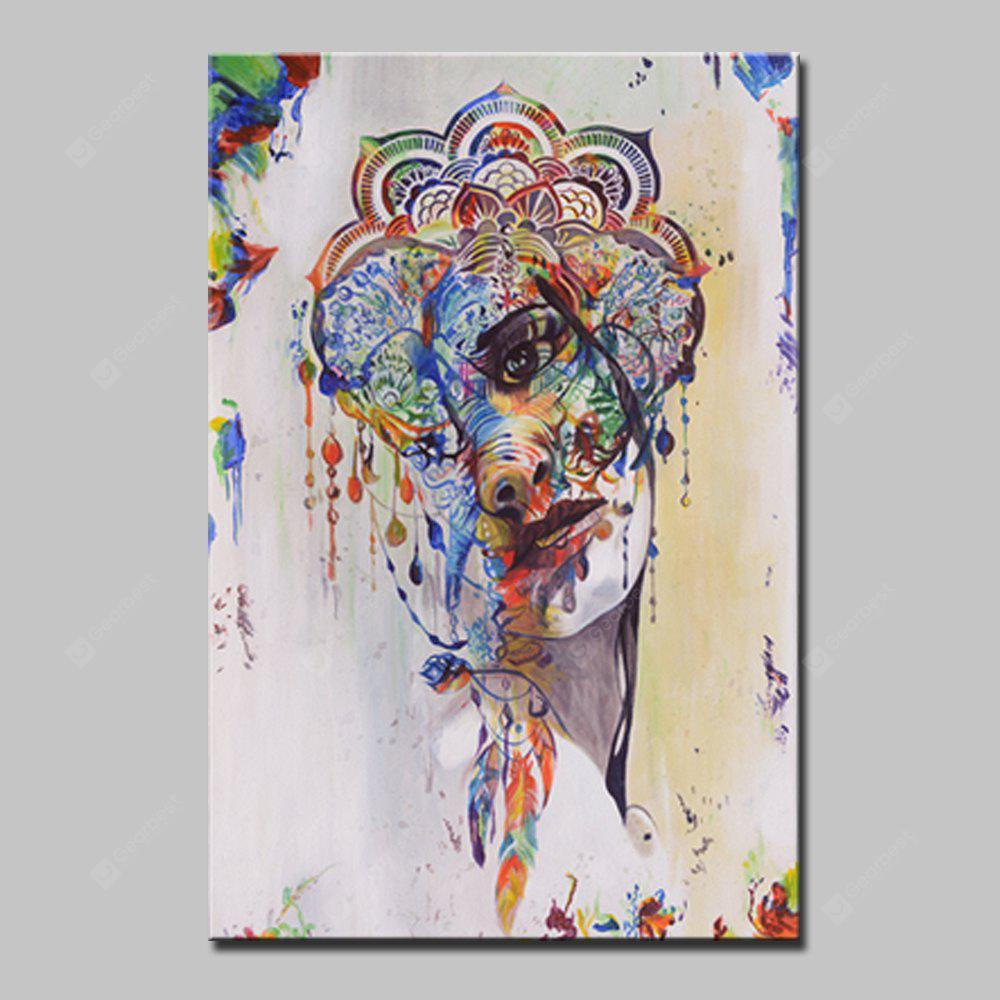 Mintura HY150138 Floral Head Unframed Canvas Print Painting