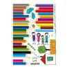 LAIMA QT0543 Flooring Angular Line Wall Sticker - COLORFUL