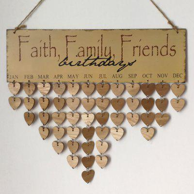 Buy GRAY DIY Wooden Faith Family And Friends Birthday Calendar Reminder Board for $13.76 in GearBest store