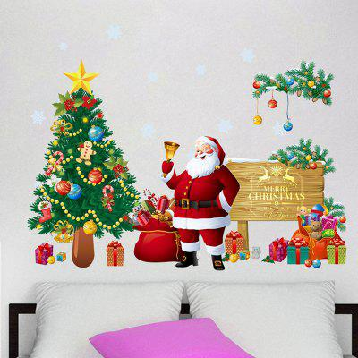 Fashion Creative Christmas Tree Santa Claus Wall StickerWall Stickers<br>Fashion Creative Christmas Tree Santa Claus Wall Sticker<br><br>Art Style: Plane Wall Stickers<br>Function: Decorative Wall Sticker<br>Material: Vinyl(PVC), Self-adhesive Plastic<br>Package Contents: 1 x Sticker<br>Package size (L x W x H): 90.00 x 30.00 x 1.00 cm / 35.43 x 11.81 x 0.39 inches<br>Package weight: 0.1000 kg<br>Product size (L x W x H): 67.00 x 51.00 x 1.00 cm / 26.38 x 20.08 x 0.39 inches<br>Product weight: 0.0900 kg<br>Quantity: 1<br>Subjects: Christmas<br>Suitable Space: Bedroom,Boys Room,Cafes,Corridor,Dining Room,Hotel,Kids Room,Kids Room,Living Room,Outdoor<br>Type: Plane Wall Sticker