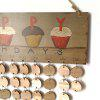 DIY Wooden Family And Friends Happy Birthday Calendar Reminder Board - ROUND
