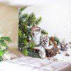 Wall Hanging Art Christmas Tree Snowfield Print Tapestry - WHITE