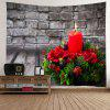 Wall Hanging Art Christmas Candle Wood Print Tapestry - COLORMIX