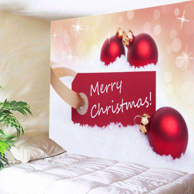Buy Wall Hanging Art Merry Christmas Baubles Print Tapestry RED for $13.85 in GearBest store