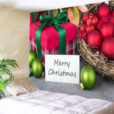 Wall Hanging Art Christmas Baubles Gift Print Tapestry