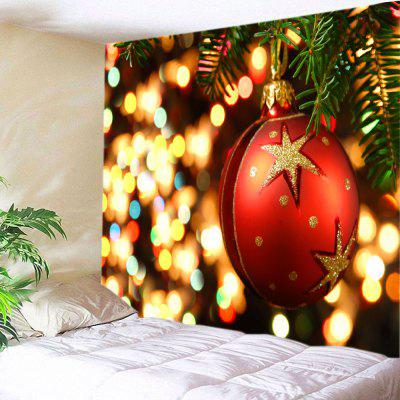 Wall Hanging Art Christmas Bauble Lights Print Tapestry