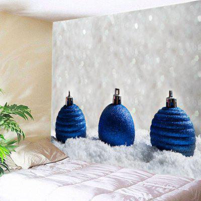 Wall Hanging Art Baubles de Natal Snowfield Print Tapestry