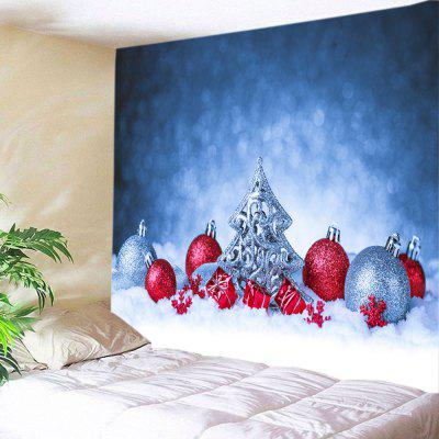 Wall Hanging Art Snowfield Christmas BaublesPrint Tapestry