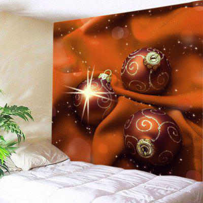 Wall Hanging Art Christmas Cloth Baubles Print Tapestry