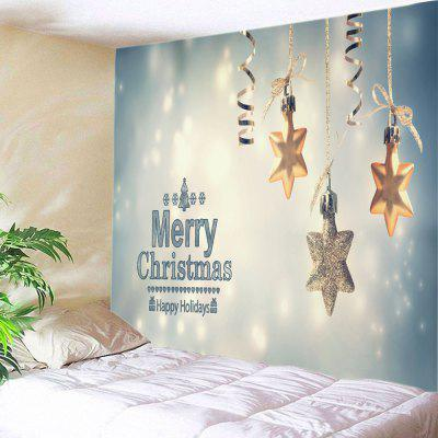 Buy Wall Hanging Art Merry Christmas Star Print Tapestry COLORMIX for $16.31 in GearBest store