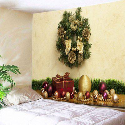 Wall Hanging Decor Christmas Baubles Gift Print Tapestry